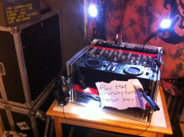 Welcoming a guest DJ