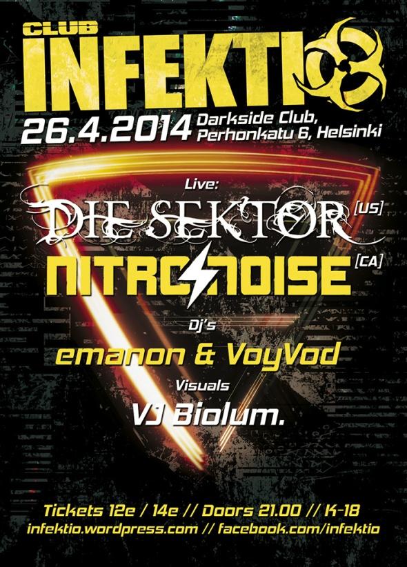Die Sektor & Nitro Noise Flyer